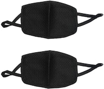 Autokraftz Dust Protection Anti Pollution Mask (Black, Pack of 2)