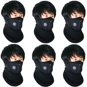 Elite Mkt Dust Protection Anti Pollution Mask (Black, Pack of 6)