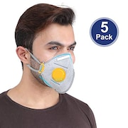 Grin Health Dust Protection Anti Pollution Mask (Pack of 5)
