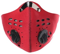 Jonty Dust Protection Anti Pollution Mask (Red, Pack of 1)