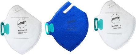 Jonty Dust Protection Anti Pollution Mask (Blue, Pack of 3)