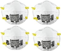 3M Dust Protection Anti Pollution Mask (White, Pack of 4)