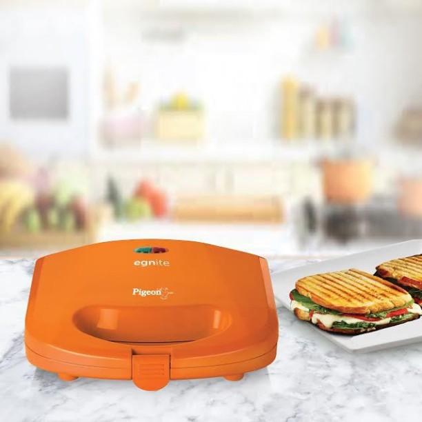 Pigeon Egnite Grill, Toast Sandwich Maker (Orange)