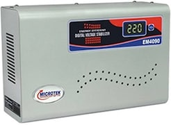 Microtek EM4090 Digital Voltage Stabilizer (Metallic Grey)
