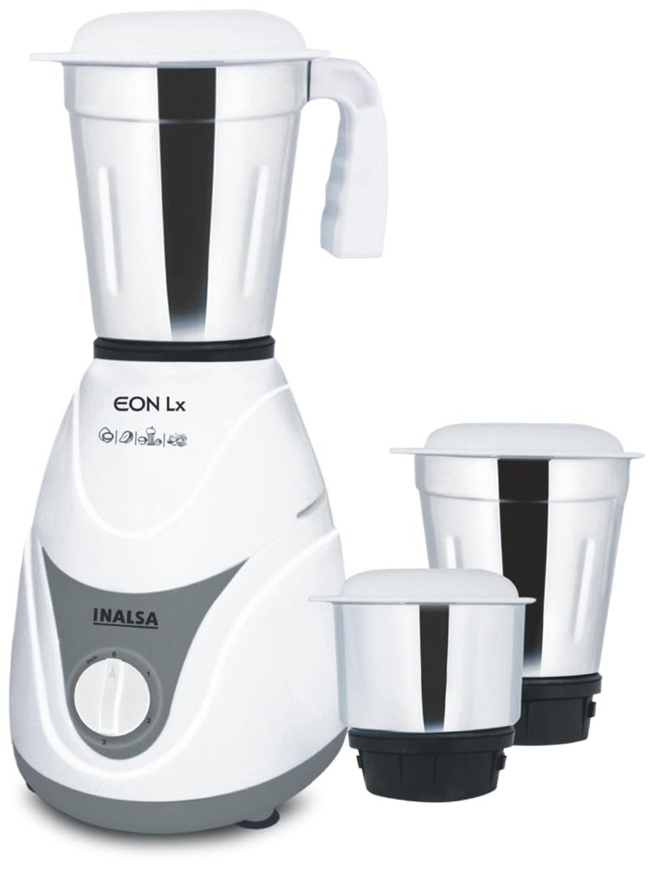 Inalsa Eon 550W Mixer Grinder (Green & White, 3 Jar)