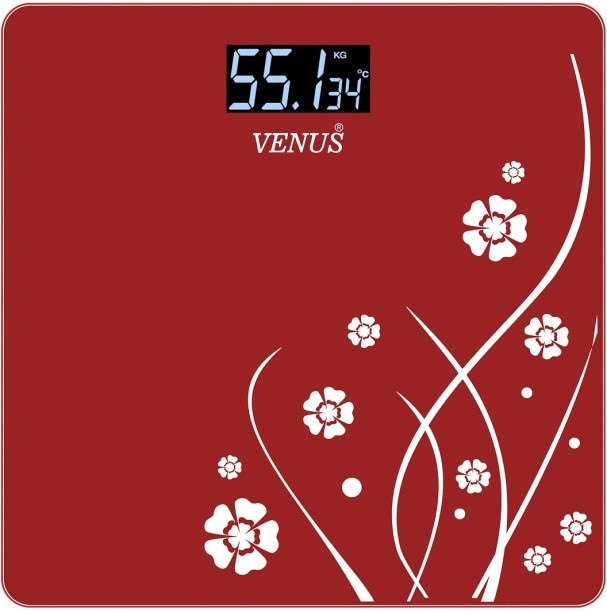 Venus EPS-2001R Digital Weighing Scale (Red)