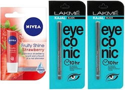 lakme Eyeconic Kajal (Strawberry, Pack of 2)