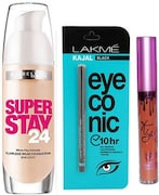 lakme Eyeconic Kajal (Brown, Pack of 3)