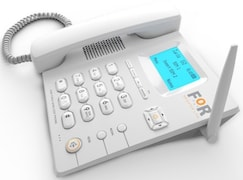 FoR F1 Plus Corded Landline Phone (White)