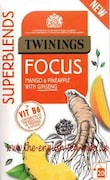 Twinings Focus Mango and Pineapple with Ginseng Fruit Tea (30GM, 20 Pieces)