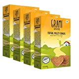 Grami Superfoods Foxtail Millet Cookies (150GM, Pack of 4)
