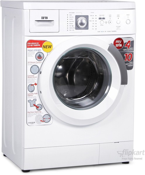 IFB 6 kg Fully Automatic Front Load Washing Machine (EVA AQUA VX LDT, White)