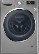 LG 9 kg Fully Automatic Front Load Washing Machine (F4J8VHP2SD, Silver)