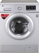 LG 6.5 kg Fully Automatic Front Load Washing Machine (FH0G7WDNL52, Silver)