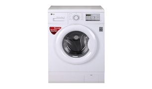 LG 10.5 kg Fully Automatic Front Load Washing Machine (FH0H3NDNL02, White)