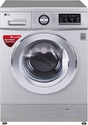 LG 8 kg Fully Automatic Front Load Washing Machine (FH2G6TDNL42, Silver)