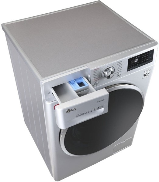 LG 7 kg Fully Automatic Front Load Washing Machine (FHT1207SWL, Silver)