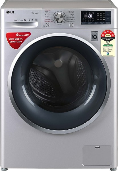 LG 9 kg Fully Automatic Front Load Washing Machine (FHT1409ZWL, Silver)