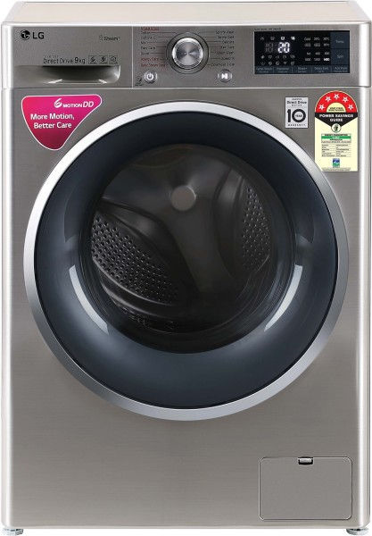 LG 9 kg Fully Automatic Front Load Washing Machine (FHT1409ZWS, Grey)