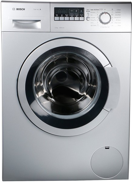 Bosch 7 kg Fully Automatic Front Load Washing Machine (WAK24268IN, Silver)