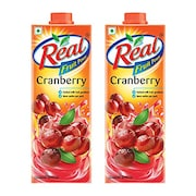 Real Fruit Power Cranberry Juice (Cranberry, 2LTR, Pack of 2)