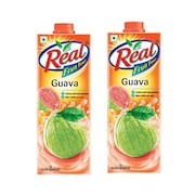 Real Fruit Power Guava Juice (Guava, 1LTR, Pack of 2)
