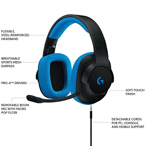 Logitech G233 Wireless Bluetooth Headphone (Black & Blue)