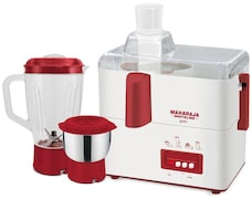 Maharaja Whiteline Gala 450W Juicer Mixer Grinder (Red & White, 2 Jar)