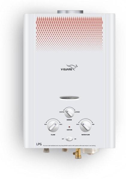 V-Guard 6L Gas Water Geyser (Brio, White)