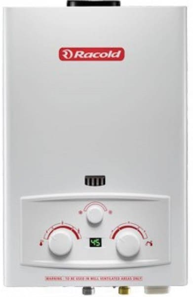Racold 5L Gas Water Geyser (LPG, White)