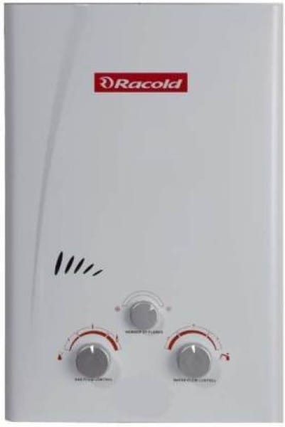 Racold 6L Gas Water Geyser (LPG, White)