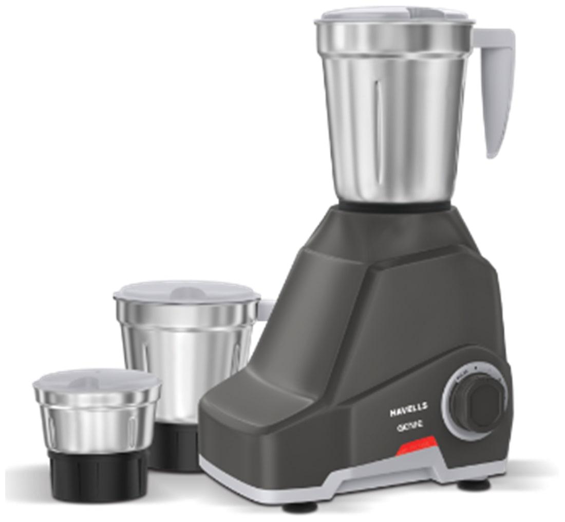 Havells Genie 500W Mixer Grinder (Dark Grey, 3 Jar)