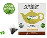 Teamonk Global Darjeeling 10 Pyramid Teabages White Tea (20GM, 10 Pieces)