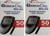 Dr. Morepen Gluco One BG-03 Glucometer Strips (100 Strips)