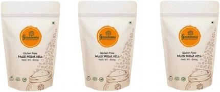 Graminway Gluten Free Multi Millet Multigrain Flour (800GM, Pack of 3)