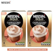 Nescafe Gold Cappuccino Coffee (Cappuccino, 113GM, Pack of 2)