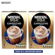 Nescafe Gold Cappuccino Decaf Coffee (Cappuccino, 120GM, Pack of 2)