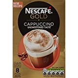 Nescafe Gold Cappuccino Unsweetened Coffee (14GM, Pack of 8, 8 Pieces)