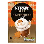 Nescafe Gold Gingerbread Latte Coffee (Gingerbread Latte, 168GM, 8 Pieces)