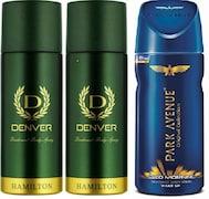Park Avenue Good Morning Deodorant Body Spray (310ML, Pack of 3)