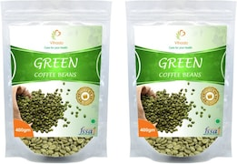 Vihado Green Beans Coffee (Green, 400GM, Pack of 2, 2 Pieces)
