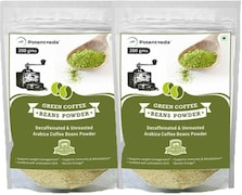 Potentveda Green Beans Powder Coffee (Green, 100GM, Pack of 2)
