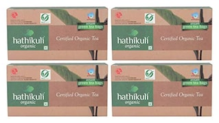 Hathikuli Organic Green Tea (200GM, Pack of 4, 25 Pieces)