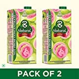 B Natural Guava Juice (Guava, 1LTR, Pack of 2)