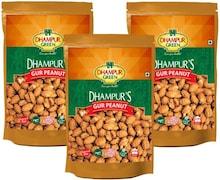 Dhampur Gur Peanut Namkeen (450GM, Pack of 3)