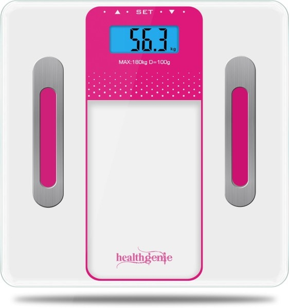 Healthgenie HB-301 Digital Weighing Scale (White & Pink)