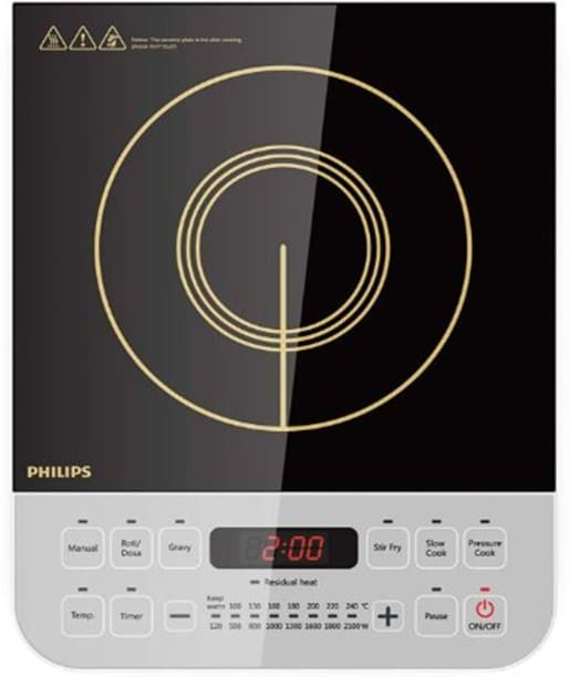 Philips HD4928/01 2100 W Induction Cooktops (White)