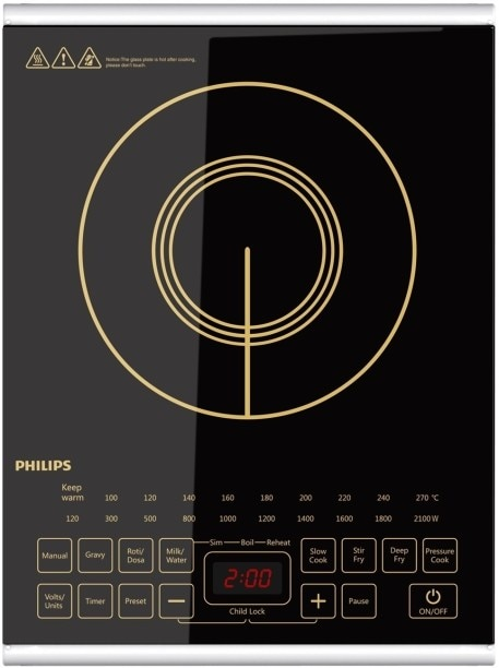 Philips HD4938 2100 W Induction Cooktops (Black)