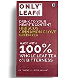 Onlyleaf Hibiscus Cinnamon Clove Green Tea (Pack of 1, 27 Pieces)
