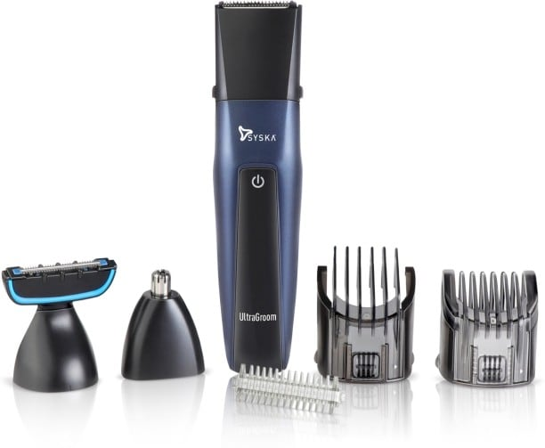 Syska HT3030 Body Grooming Trimmer (Black & Blue)